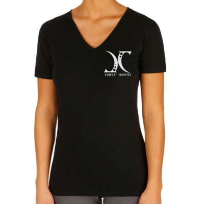 JC aka Triple Threat T-Shirt - Ladies Deep V T-Shirt