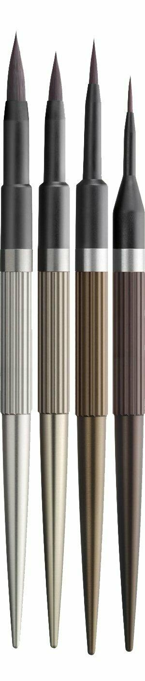N.era Brush collection, set of four brushes : 8-Macchiato, 6-Cappuccino, 4-Moka, 1-Ristretto