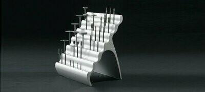 Organ.Ez, Solid aluminium burstand