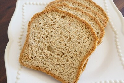 One Carb Sandwich Bread - GF DF SF Paleo Keto