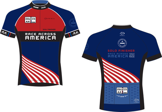 2016-2017 RAAM Official Finisher Jersey - Solo & Team