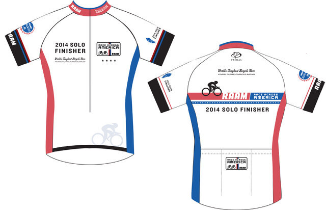 2014-2015 RAAM Official Finisher Jersey - Solo & Team