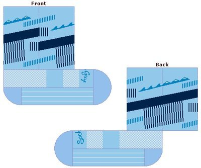 RAAM Sock - Abstract - Waves to Mountains