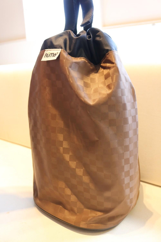 Rume Bin Bag Espresso, reusable bag, laundry bag, camping bag, car organiser, toys bag, storage bag (L)