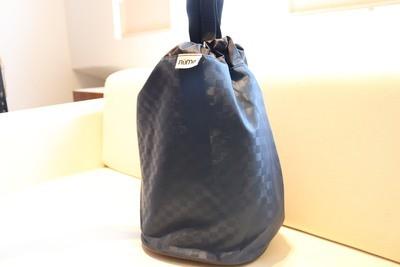 Rume Bin Bag Navy, reusable bag, laundry bag, camping bag, car organiser, toys bag, storage bag (L)