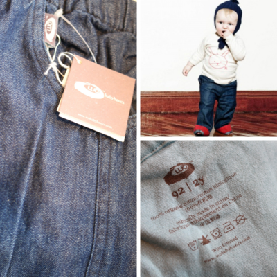 Wobabybasics - Work With Me Denim Pants (4Years) Certified Organic Cotton Kids Clothing