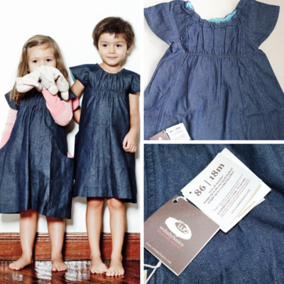 Wobabybasics Denim Dress 18Months Certified Organic Cotton Kids Clothing