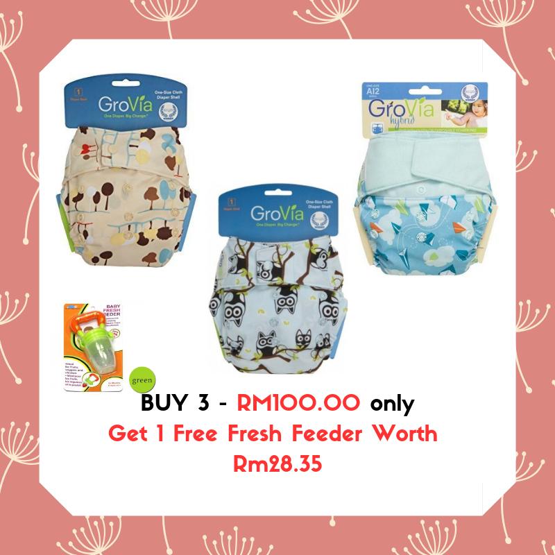 Grovia Snap AI2 (2pcs) Grovia Aplix AI2 (1pc) Buy 3 FREE 1 Fresh Feeder