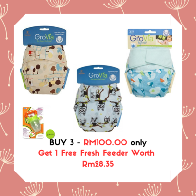 Grovia Snap AI2 (2pcs) Grovia Aplix AI2 (1pc) Buy 3 FREE 1 Fresh Feeder