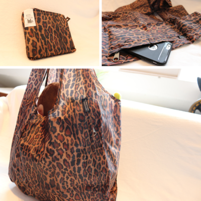 Roo Shopper Reusable Bag (Leopard Print) Grande. L 27