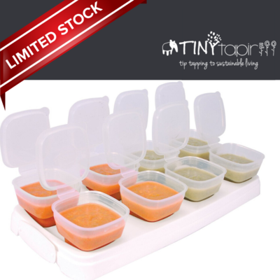 Baby Cubes BPA Free Breast Milk/Food Reusable Container. Loose set. No box. RM8/tray x 8 trays (1oz & 2oz ONLY for this promo)
