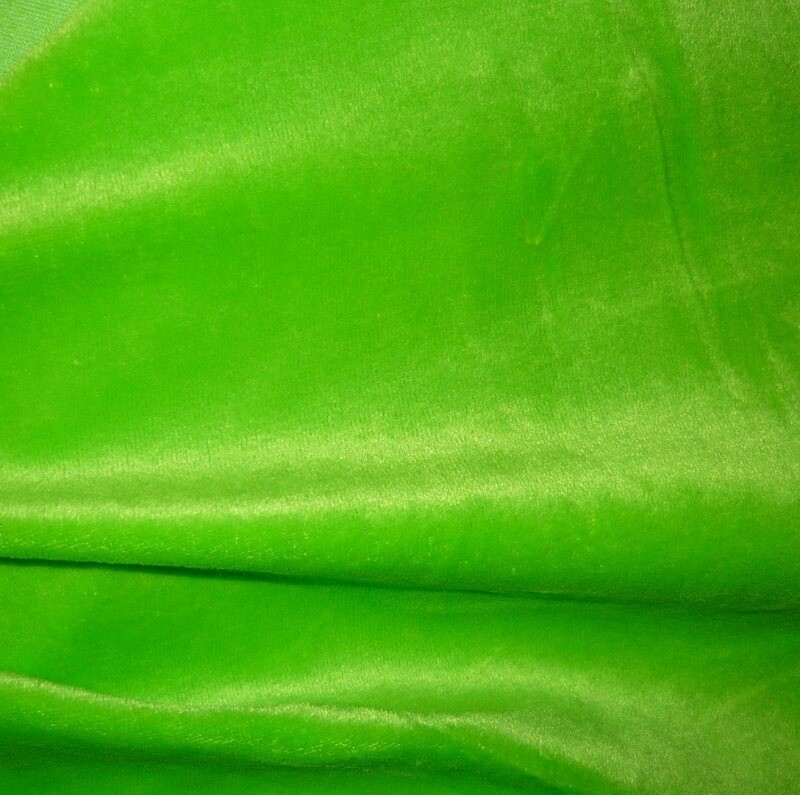 Bamboo Velour - Green. NOW ONLY RM 25.00 per meter. BEST BUY. BUY 3x meters above GET 1x meter FREE. BUY IT NOW!