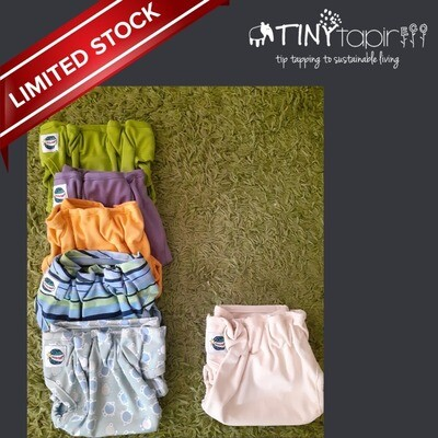 Wonder Wrap Cloth Diapers. OFFER PACK. 6pcs Diapers + FREE 6pcs Bouncy baby single layer microfiber inserts.