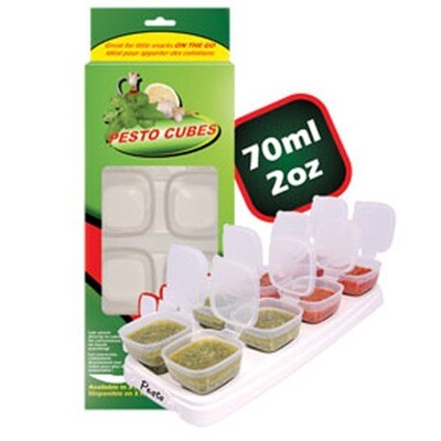 Pesto Cubes 70ml/8x2oz (1 tray). OFFER PACK in Box packaging.