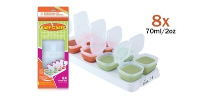 Baby Cubes 70ml/8x2oz (1 tray). OFFER PACK in Box Packaging RM16.00.
