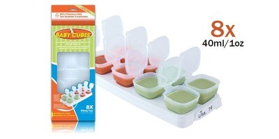 Baby Cubes 40ml/8x1oz (1 tray). OFFER PACK in Box Packaging RM 16.00.
