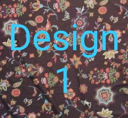 Cotton Fabric 100% Japanese. 4 types of floral designs & patterns available. Design (1)