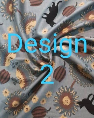 Cotton Fabric 100% Japanese. 4 types of floral designs & patterns available. Design (2)