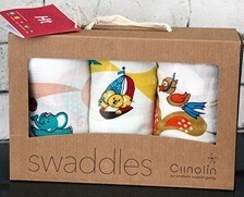 Ciinolin Muslin Swaddle blankets - Madura design with a SouthEast Asian Twist. Pack of 3pcs. MID-TERM SALE.