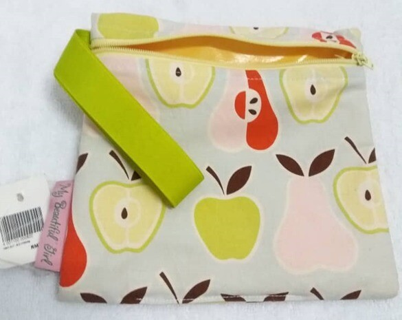 Wet Bag Waterproof Apple/Pear design - Size: Small. 3 designs available.