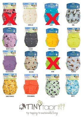 Grovia SNAP SHELL AI2 OFFER Pack. Lot of 12pcs Cloth Diapers. RM 26.00/pc.