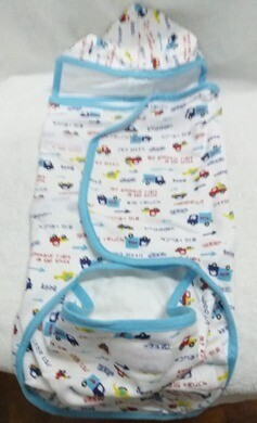 TinyTapir Swaddles Wrap with Hoody for Baby Boys (Blue).