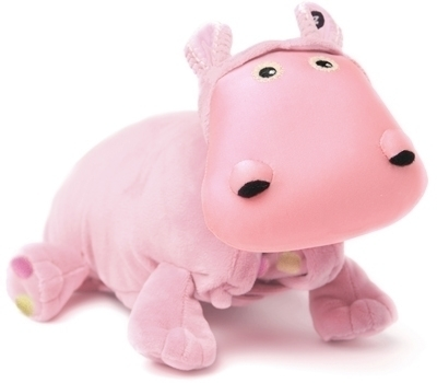 Zoobies Baby Hada The Hippo 3 in one Soft Toy, blanket and pillow, Baby Version