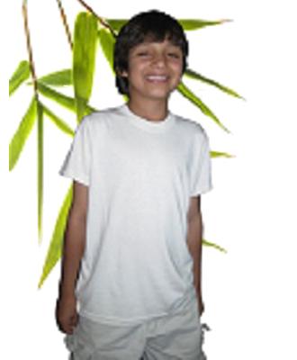 Bambu Dru - Organic Bamboo Cotton Boy's Short Sleeved Tee. Round neck.