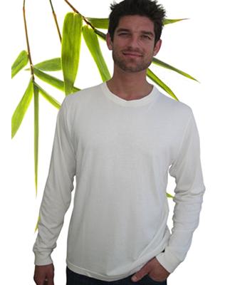 Bambu Dru Long Sleeve-Organic Bamboo Cotton T-Shirt. Round neck.