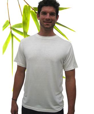Bambu Dru - Men Short Sleeve Sorona Organic Bamboo Cotton T-Shirt. Round neck. S/M/L/XL