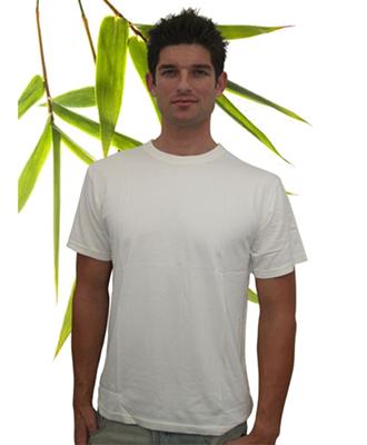 Bambu Dru - Men Short Sleeve-Round neck Organic Bamboo Cotton Blend T-Shirt.