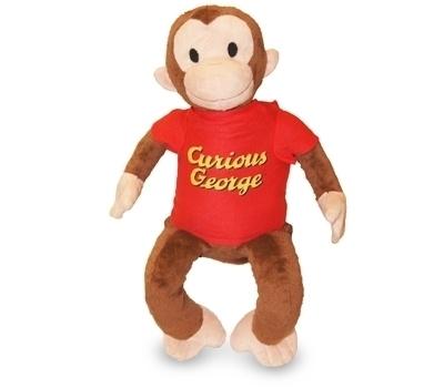 Zoobies Plush Toy, Pillow, Blanket, Kids Travel Companion Curious George
