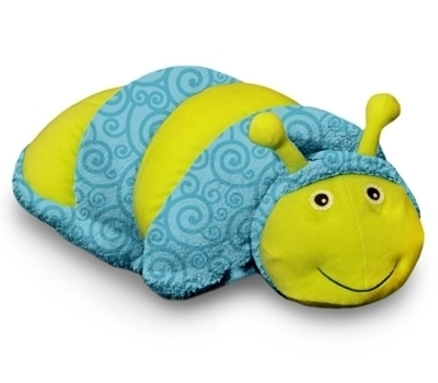 Zoobies glow in the dark Glimmer the Glow-Worm, 3 in 1 blanket, pillow & plush toy, great kids childrens gift