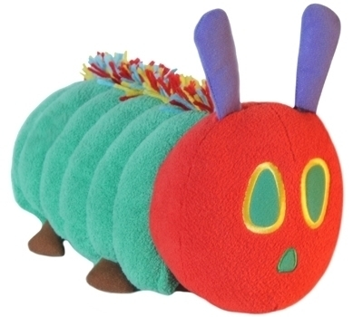Zoobies Story Time Pals The Very Hungry Caterpillar, blanket, pillow, soft toy