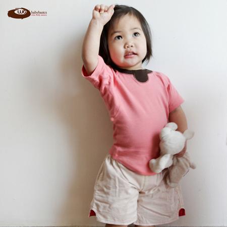 Wobabybasics - Hold Me T-shirt (Short Sleeve) Certified Organic Cotton Kids Clothing