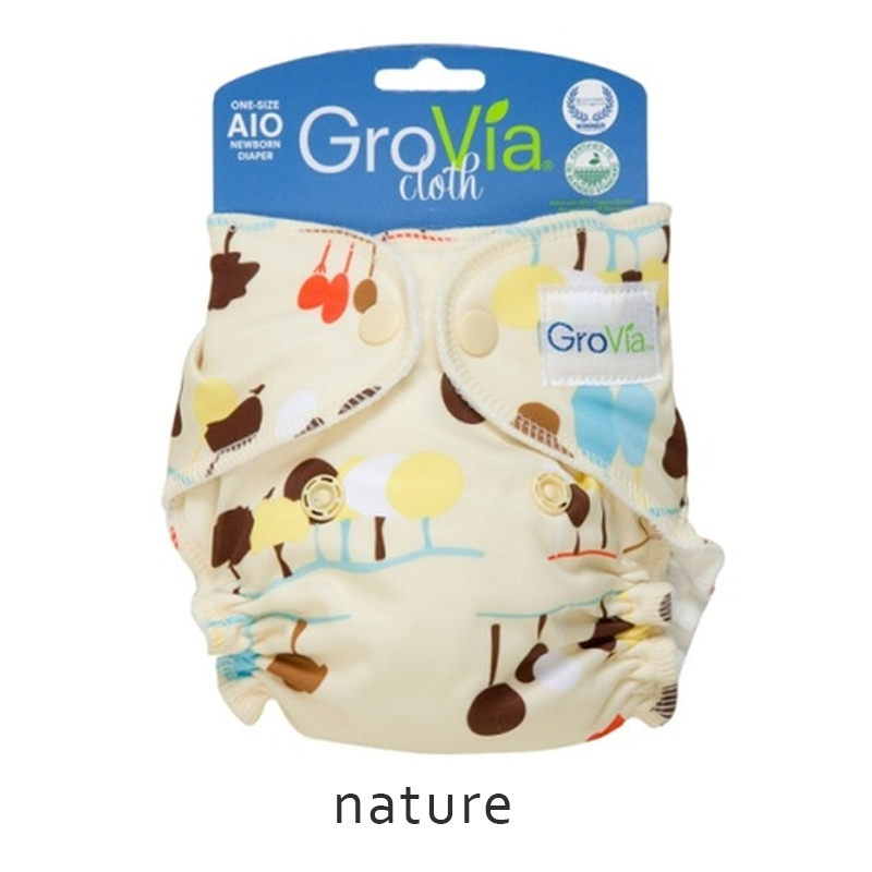 GroVia All-in-One (AIO) newborn - Nature