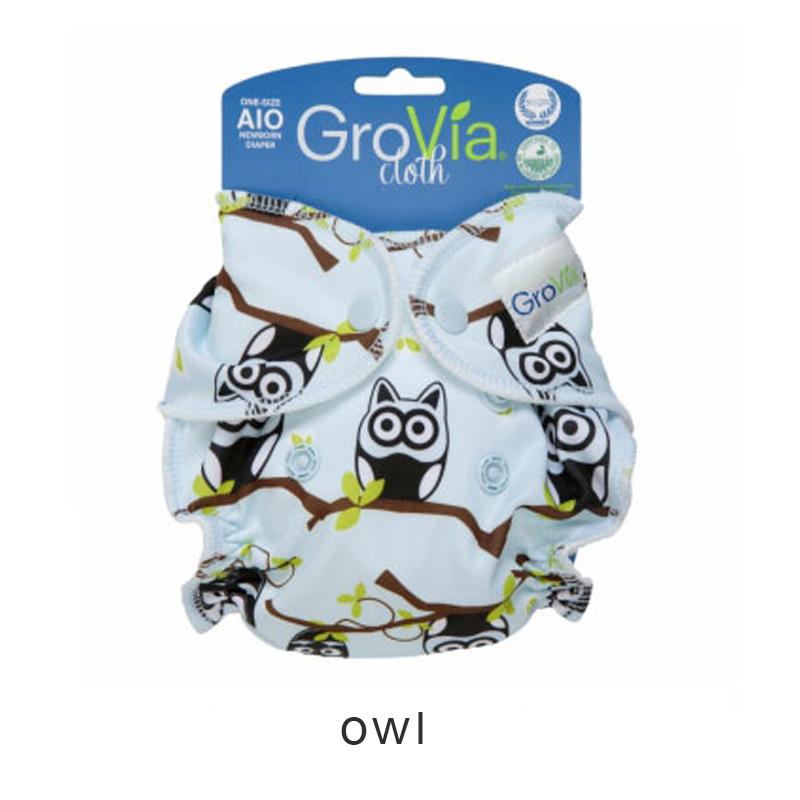 GroVia All-in-One (AIO) newborn - Owl