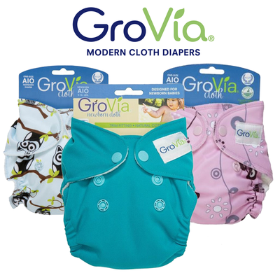 GroVia Newborn AIO (All-in-One) - Newborn. Pack of 3pcs.