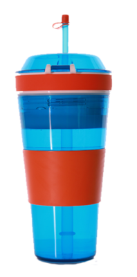 My KoolKup/KoolCup - 2 Colours of Blue & Red.