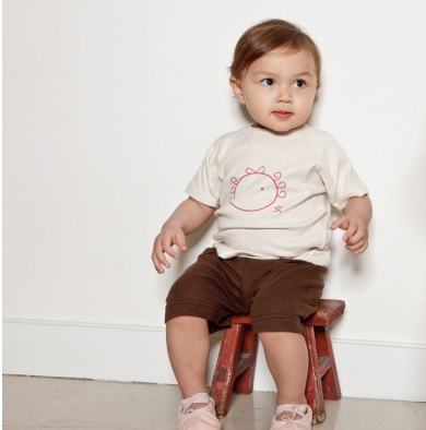 Wobabybasics - Pull Me Up Playground 1x Short Pants ONLY. Certified Organic Cotton Kids Clothing