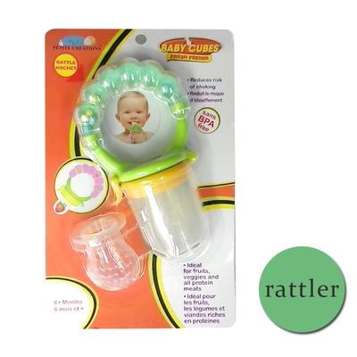 Authentic Fresh Feeder Fruit Feeder Pacifier BPA Free - Green with ratthler Beli 1 Atau beli harga borong wholesale bulk quantity discount