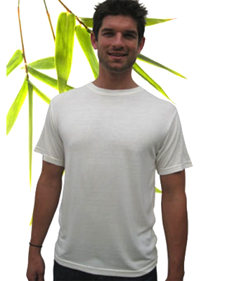 Bambu Dru - Men Short Sleeve Sorona Organic Bamboo Cotton T-Shirt. Round neck.
