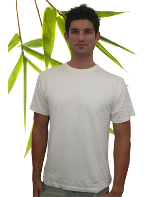 Bambu Dru - Men Short Sleeve-Round neck Organic Bamboo Cotton Blend T-Shirt.
