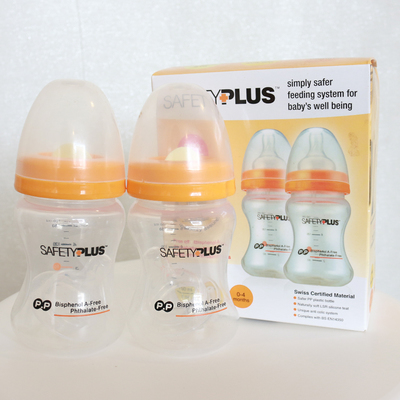 Safety Plus 150ml / 5oz PP Bottle Twin Pack