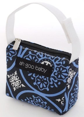 Ah Goo Baby Pacifier Teether Small Tote Bag  - Blueberry ( Buy 1 Get 1 Free)