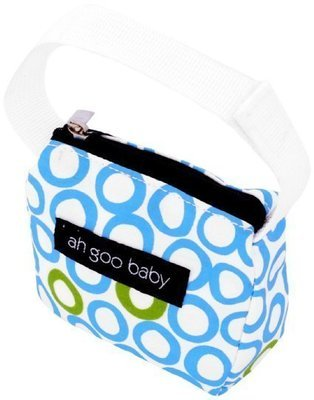 Ah Goo Baby Pacifier Teether Small Tote Bag  - Bubbles in Water ( Buy 1 Get 1 Free)