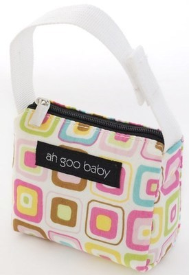 Ah Goo Baby Pacifier Teether Small Tote Bag - Gumdrop ( Buy 1 Get 1 Free)