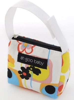 Ah Goo Baby Pacifier Teether Small Tote Bag - Poppy ( Buy 1 Get 1 Free)
