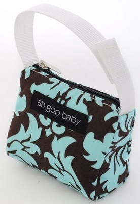 Ah Goo Baby Pacifier Teether Small Tote Bag - Vintage in Blue ( Buy 1 Get 1 Free)