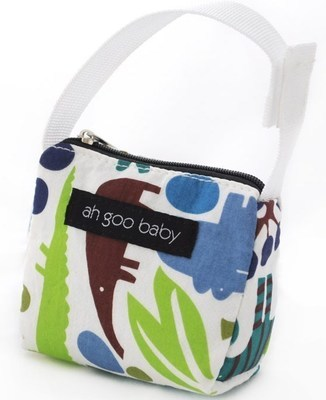 Ah Goo Baby Pacifier Teether Small Tote Bag - Zoo Frenzy ( Buy 1 Get 1 Free)